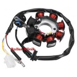 LICHTMASCHINE Stator 8 Spulen GY6 50ccm /125ccm / 150ccm China Roller Scoote